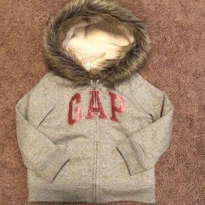 GAP Hoodie with Faux Fur Trim